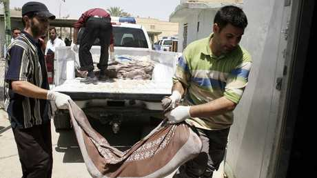 جثث مدنيين راحوا ضحية غارة جوية أمريكية في العراق