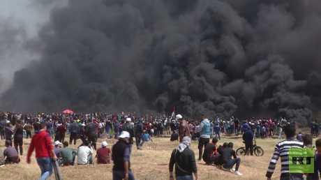 عشرات الجرحى بمواجهات مع الجيش الإسرائيلي بقطاع غزة في الجمعة الـ10 لمسيرات العودة