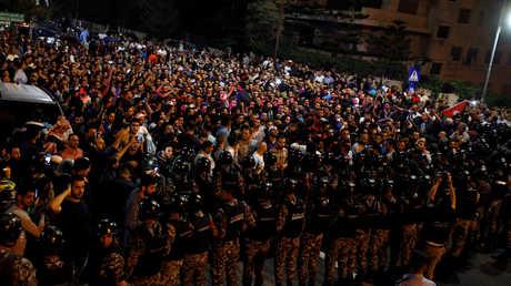 جانب من الاحتجاجات في الأردن
