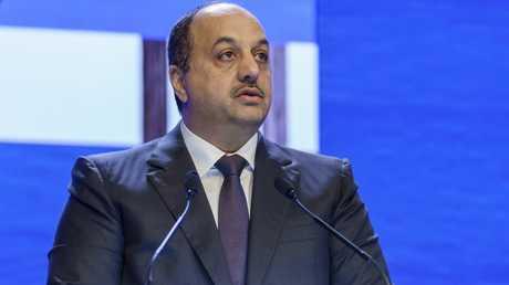 وزير الدولة لشؤون الدفاع القطري، خالد بن محمد العطية، في مؤتمر شانغريلا للأمن في سنغافورة