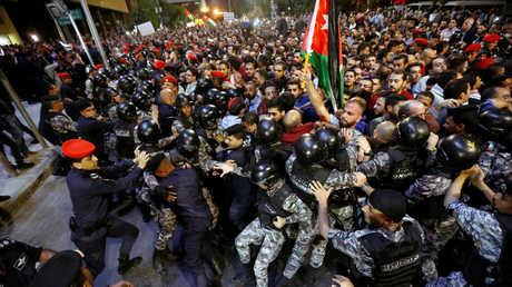 الاحتجاجات الجماهيرية في عمان، الأردن، 3 يونيو 2018