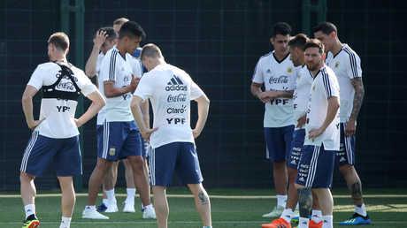 ميسي يظهر في تدريب منتخب الأرجنتين
