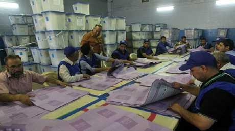عمليات العد والفرز في الانتخابات البرلمانية في العراق - أرشيف