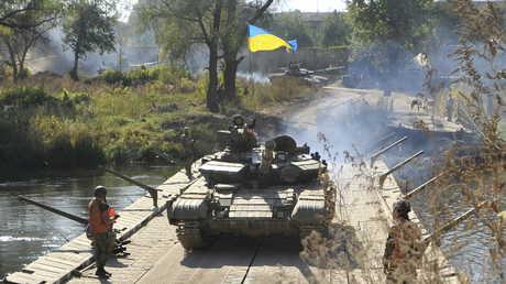 دبابة أوكرانية في دونباس