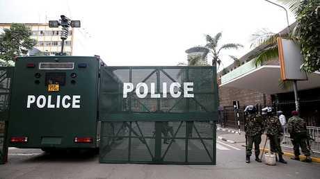 عناصر من الشرطة الكينية