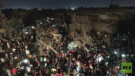 موقع الانفجار في مدينة الصدر ببغداد