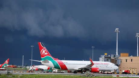 إحدى طائرات الخطوط الجوية الكينية