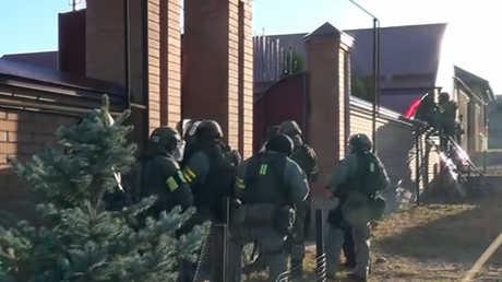 عناصر من مصلحة الأمن الفيدرالية الروسية في جمهورية إنغوشيا (أرشيف)