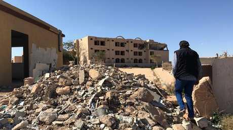 ضربة للتحالف الدولي على منطقة بني وليد في ليبيا - أرشيف
