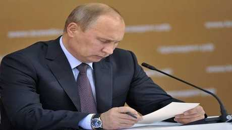 الرئيس الروسي، فلاديمير بوتين