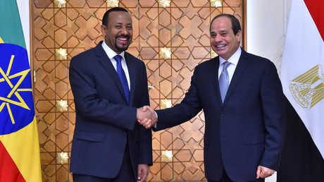 الرئيس المصري عبدالفتاح السيسي، ,رئيس الوزراء الإثيوبي أبي أحمد علي