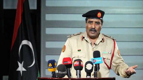 الناطق باسم القيادة العامة للجيش الوطني الليبي، أحمد المسماري (صورة أرشيفية)