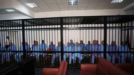 مسؤولون ليبيون في نظام القذافي - صورة من الأرشيف