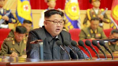 الرئيس الكوري الشمالي كيم جونغ - أون