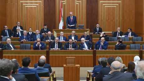 جلسة للبرلمان اللبناني الجديد