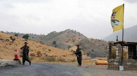حاجز لحزب العمال الكردستاني في جبل قنديل شمال العراق (أرشيف)
