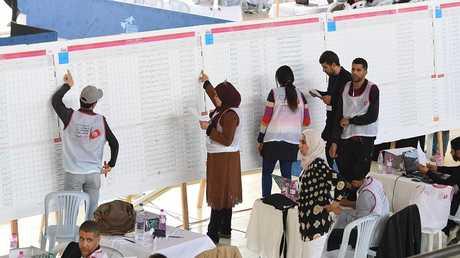 حساب الأصوات في الانتخابات البلدية في تونس