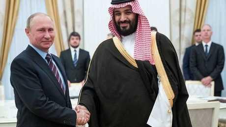 الرئيس الروسي فلاديمير بوتين وولي العهد السعودي الأمير محمد بن سلمان