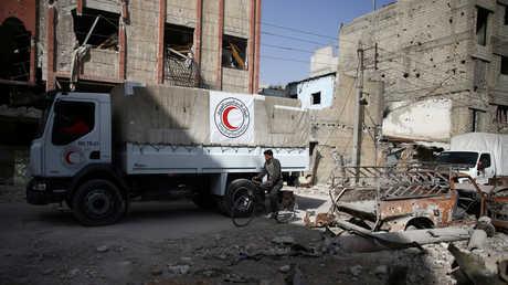 قافلة إنسانية أممية في ريف دمشق - صورة أرشيفية