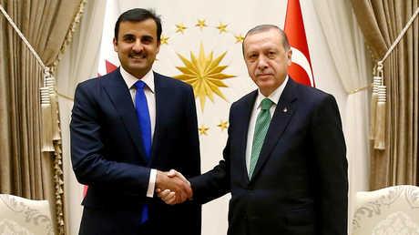 اتصال هاتفي بين أردوغان والشيخ تميم