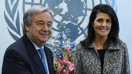 نيكي هايلي: واشنطن تؤيد حل الدولتين لكنها تفكر في بدائل لإحلال السلام بين إسرائيل والفلسطينيين