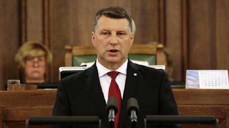 رئيس لاتفيا البلطيقية