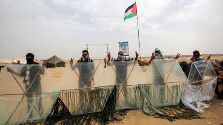 مطلقو الطائرات الورقية الحارقة في غزة