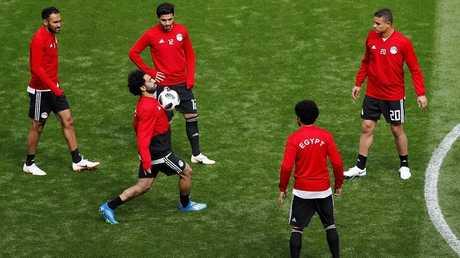 صلاح يشارك في تدريبات مصر قبل مواجهة روسيا