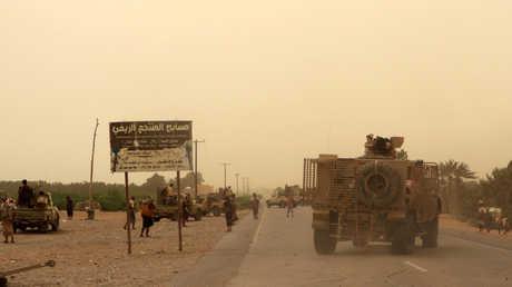 قوات الحكومة اليمنية قرب الحديدة
