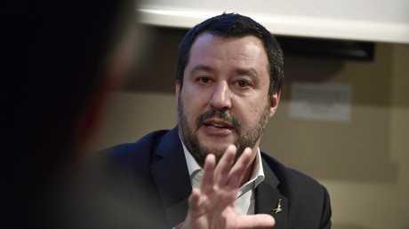 وزير الداخلية ونائب رئيس الوزراء الإيطالي ماتيو سالفيني
