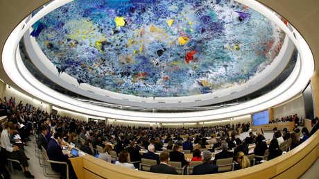 جلسة لمجلس حقوق الإنسان التابع للأمم المتحدة