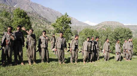 مقاتلون أكراد في منطقة جبل قنديل (صورة من الأرشيف)