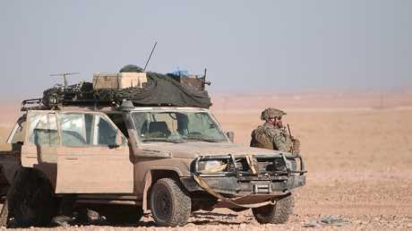 صورة ارشيفية لعسكري امريكي في سوريا