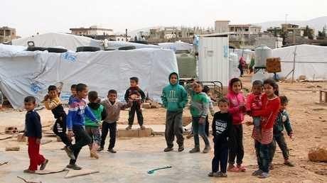 مخيم للاجئين السوريين في البقاع بلبنان