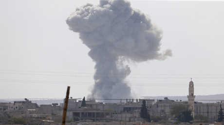 غارات التحالف الدولي في سوريا (صورة من الأرشيف)