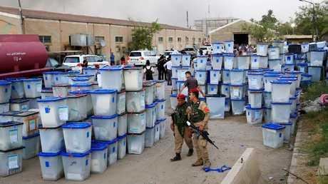 صناديق الاقتراع في بغداد - أرشيف
