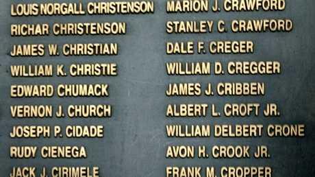 أسماء جنود أمريكيين قتلوا في الحرب الكورية بمتحف في العاصمة الكورية الجنوبية سيئول