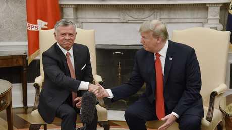 اللقاء بين العاهل الأردني عبد الله الثاني والرئيس الأمريكي دونالد ترامب