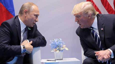 الرئيس الروسي، فلاديمير بوتين، ونظيره الأمريكي، دونالد ترامب - أرشيف