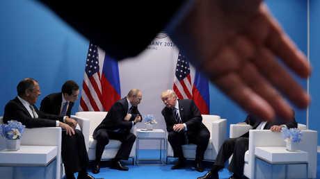 لقاء قمة بين فلاديمير بوتين ودونالد ترامب - صورة أرشيفية