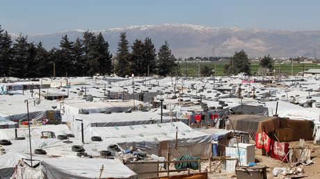 مخيم للاجئين السوريين في بر الياس