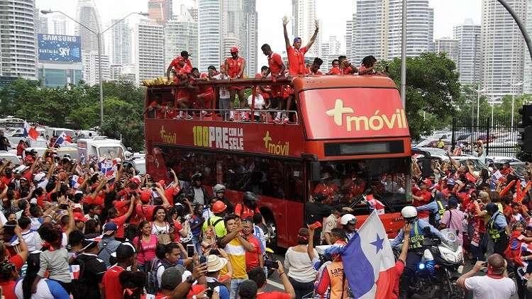 استقبال حافل لنجوم بنما عقب أول مشاركة في كأس العالم (فيديو)