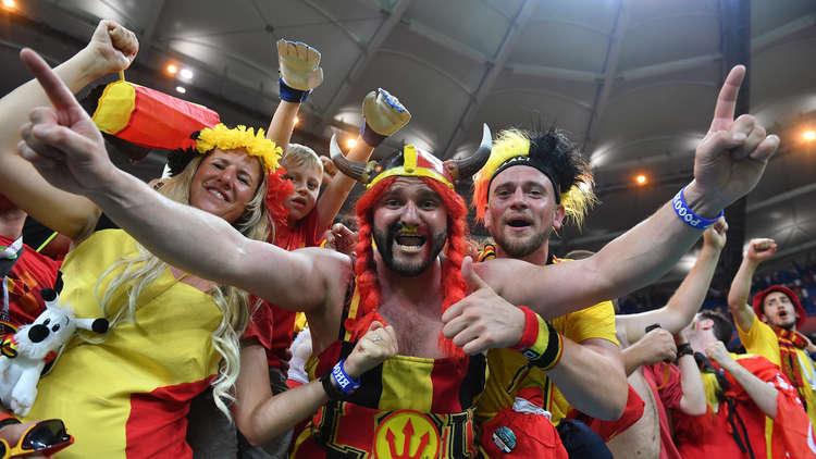 مشجعو المنتخب البلجيكي لكرة القدم