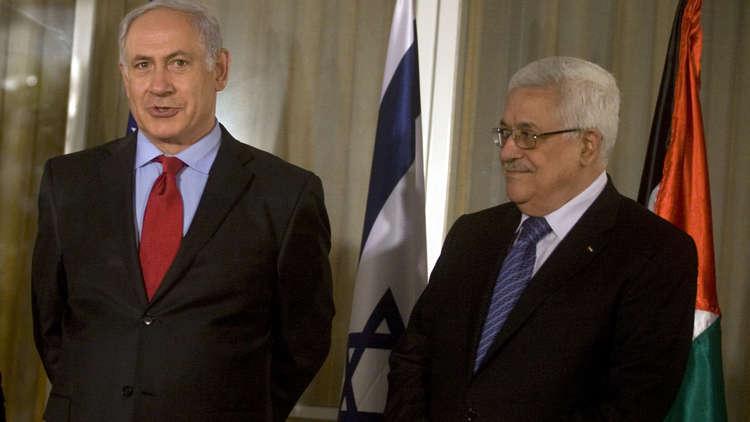 عباس ونتنياهو خلال لقائهما في القدس 15 سبتمبر 2010