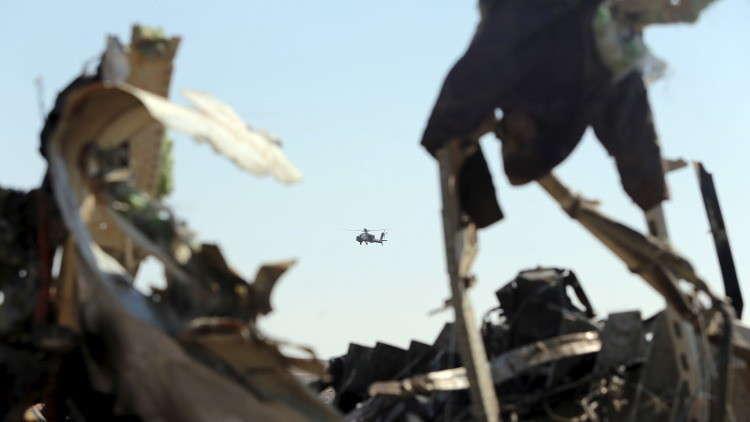 حطام الطائرة الروسية المنكوبة في سيناء