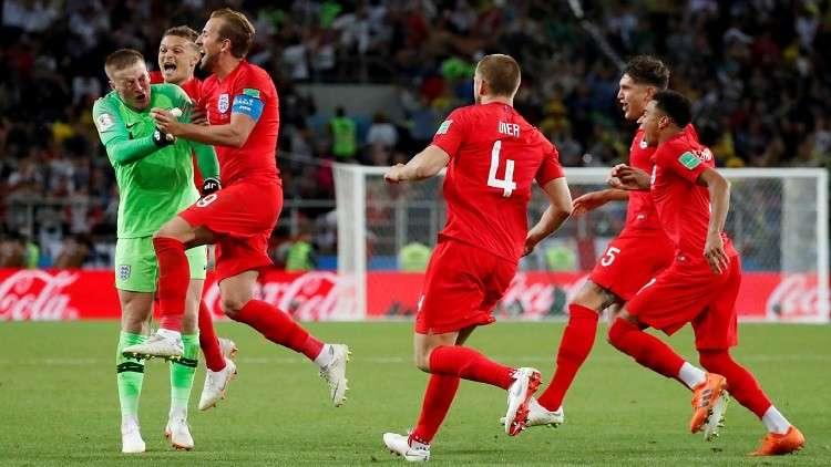 مباراة إنجلترا وكولومبيا تسجل رقما مميزا في بريطانيا