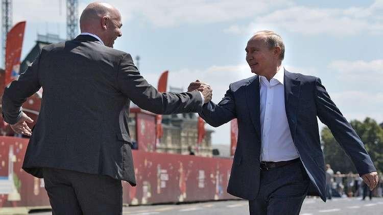 رئيس الفيفا: كلنا وقعنا في حب روسيا