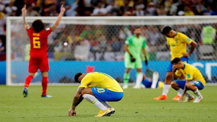 مونديال روسيا.. بلجيكا تطيح بالبرازيل وتحجز مقعدها في المربع الذهبي