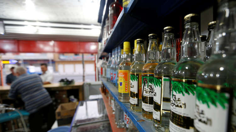 إحدى محلات بيع الكحول في العراق
