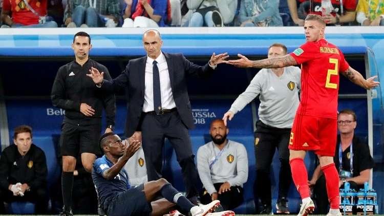 """مدرب بلجيكا: """"كرة ميتة"""" حسمت نتيجة المباراة"""